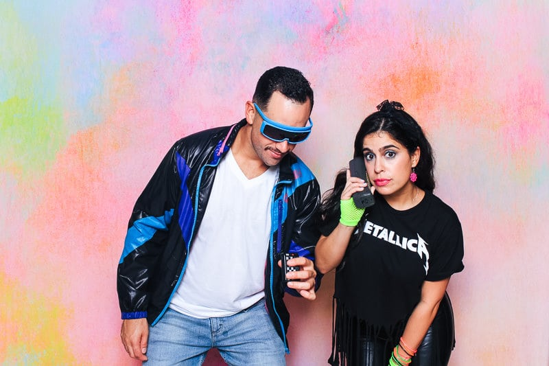 80s party photo booth