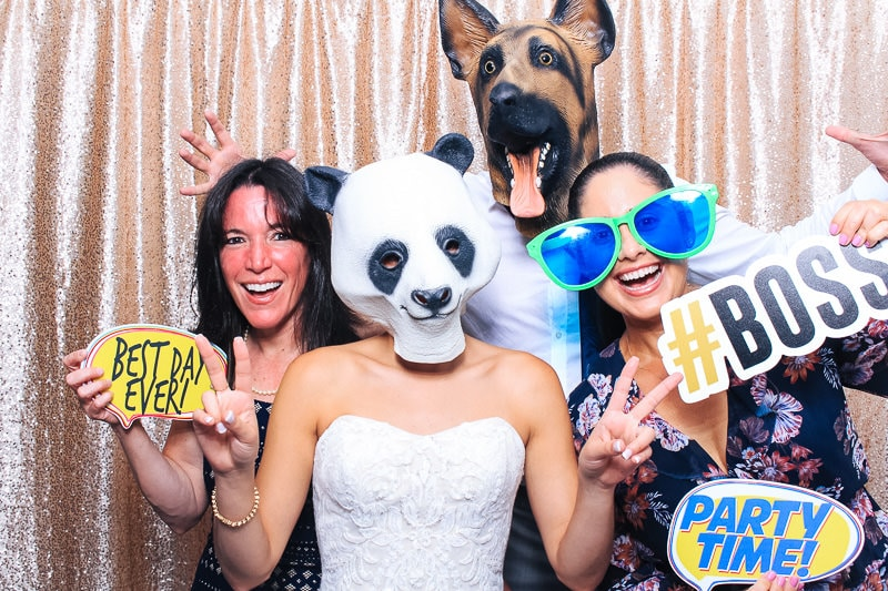 Hillsboro Club Wedding Photo Booth